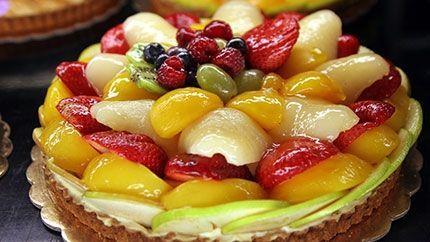 طريقة عمل تارت الكاسترد بالفواكه Custard With Fruit Tart Recipe Sweet Recipes Lebanese Desserts Food
