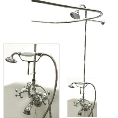 Kingston Brass Cck1141ax Vintage Shower Package Polished Chrome
