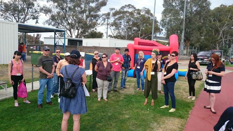 Volunteer brief at Canberra community sleepout. Thanks for your support