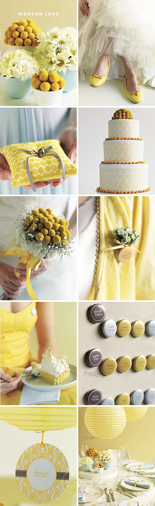 Wedding decorations yellow and gray  Yellow Wedding Ideas  Once Wed  wedded bliss  Pinterest  Wedding