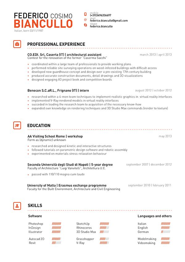 Pin by Musa Degia on CV Pinterest - architectural assistant sample resume