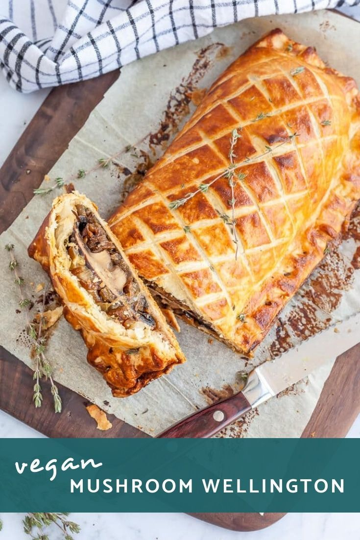 Vegan Mushroom Wellington Flaky, Golden and Delicious this Vegan Mushroom Wellington is sure to take center stage at your Christmas or Thanksgiving feast. Learn how to make this vegetable wellington. via @