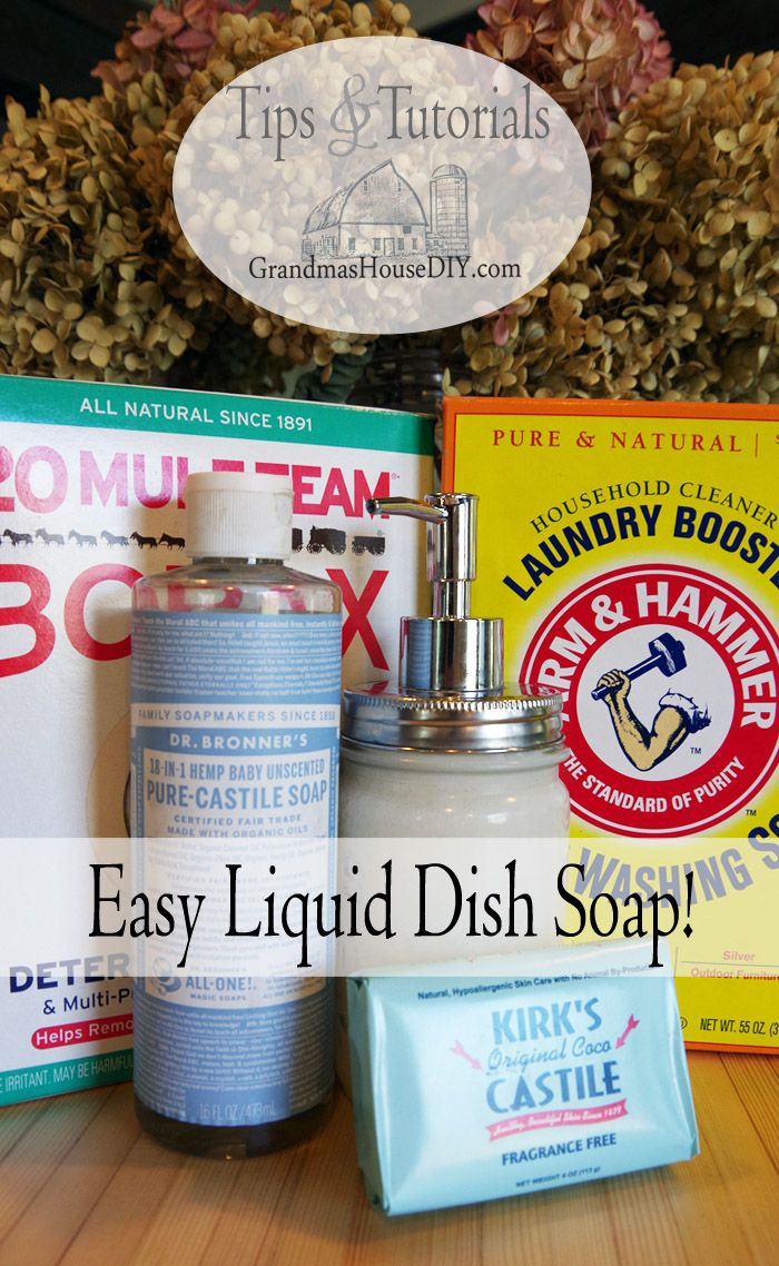 Liquid Dish Soap Recipe, greasefighting and easy to make