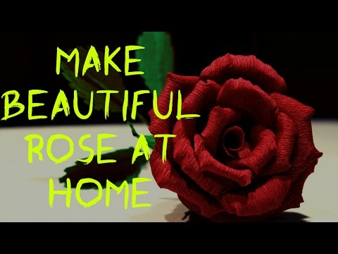 (3445) How to make beautiful rose flower using crepe paper Easily#tutorial.. - YouTube #crepepaperroses