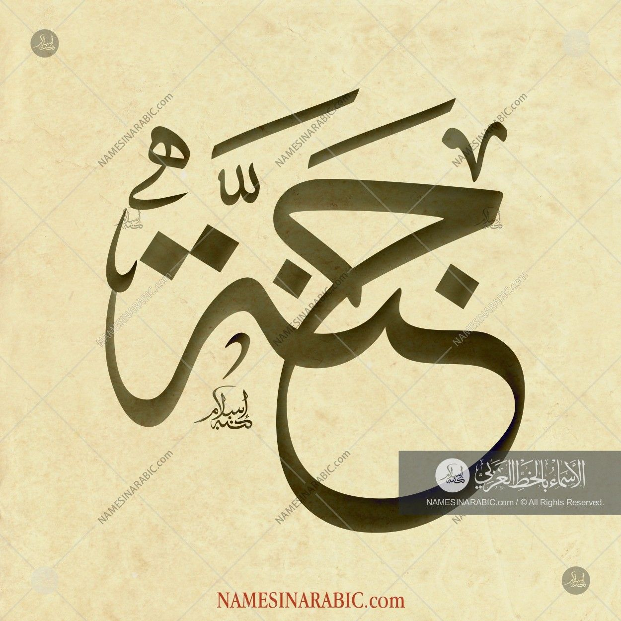 Jannah جنة Names In Arabic Calligraphy Name 3769 Calligraphy Name Calligraphy Caligraphy Art