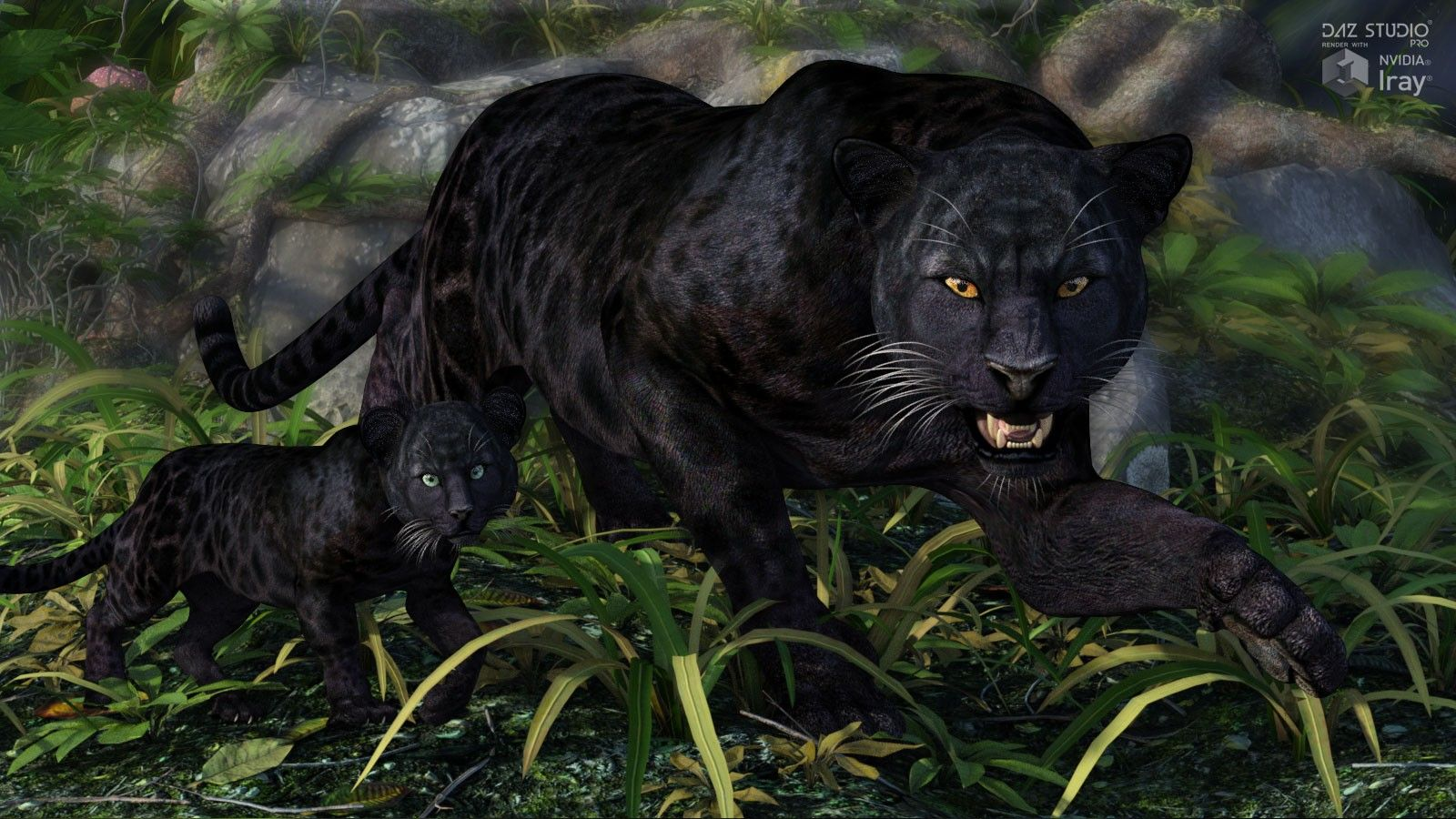 CWRW Black Panther for HW3D Big Cat 3D Models and 3D
