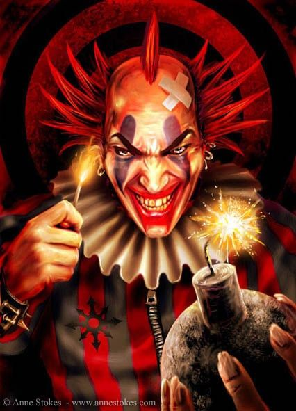 Evil Clown Dark Dessin Clown Dessin Personnages Fantastiques