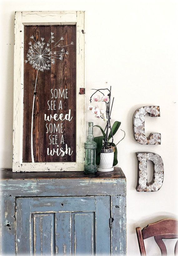 This Specific Beautiful Wooden Sign Was Originally Made With 100 Year Old Wisconsin Barn Wood And An Old Farmhouse Window Fra Barn Wood Signs Decor Wood Crafts