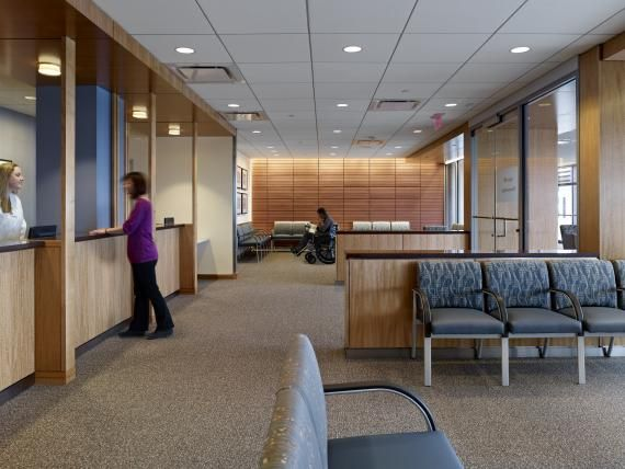 Boston Medical Center Brings Modern Outpatient Services To Historic Area Office Design Inspiration Waiting Room Decor Healthcare Design