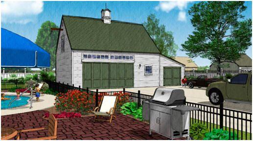 Pole Barn or PostFrame Garage Plans with Storage Loft – Post Frame Garage Plans