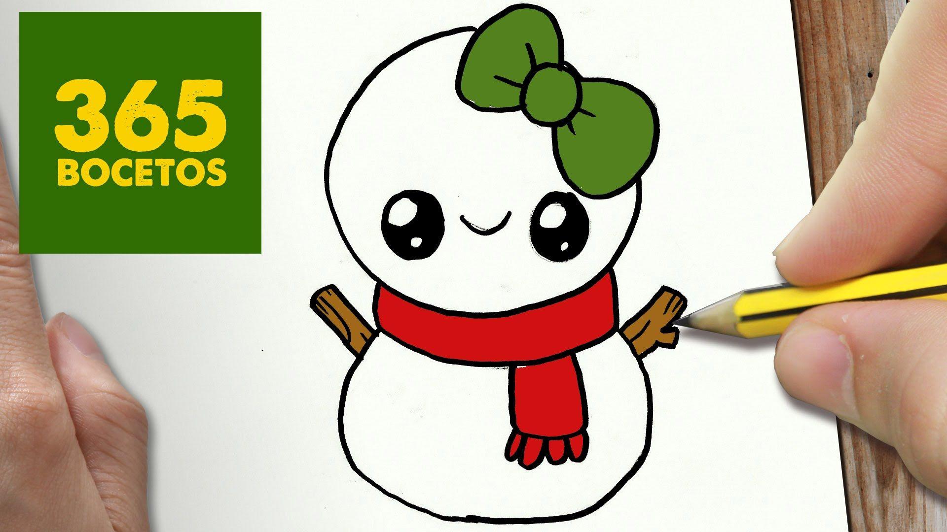 Muñeco De Nieve Dibujo: COMO DIBUJAR UN MUÑECO DE NIEVE PARA NAVIDAD PASO A PASO