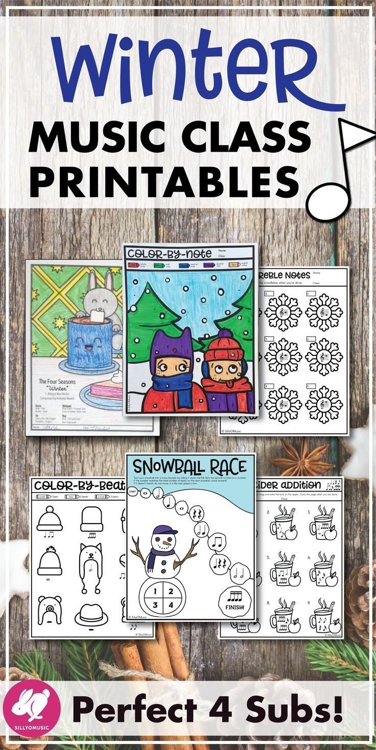 Winter Music Worksheets Pinterest Rhythm Games Music Class And