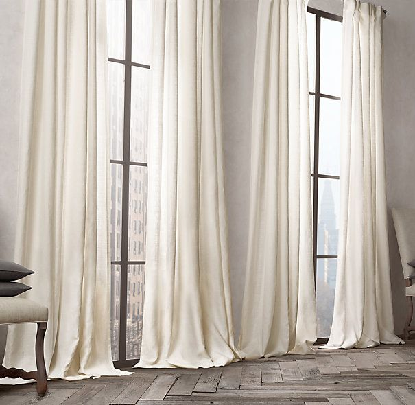 Belgian Opaque Linen Drapery Restoration Hardware 108 L 50 And 100 Widths On 109 319