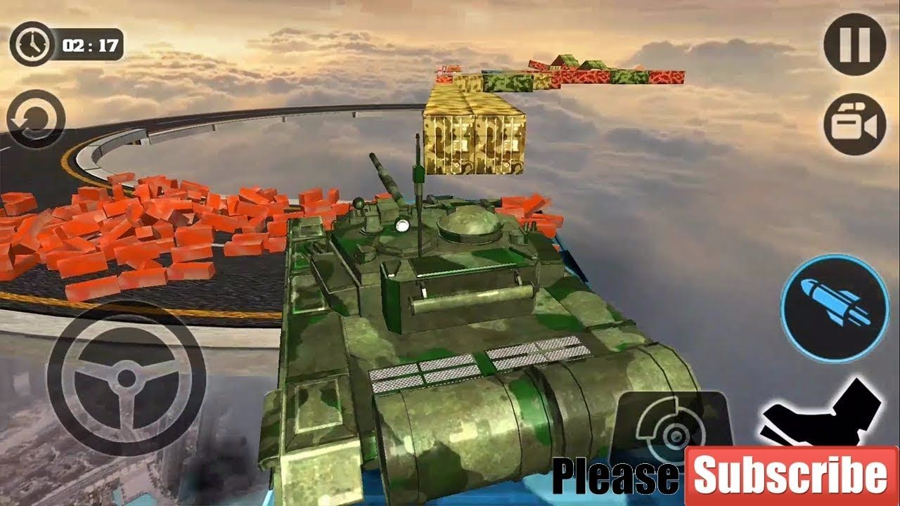 Impossible Army Tank Driving Tracks Simulator Android