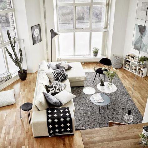 Die Fenster sind der Hit! Aber die skandinavisch-schlichte - wohnzimmer grose fensterfront