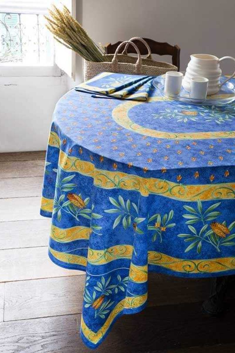 Stain Resistant Tablecloth Cigales Print Stain Resistant