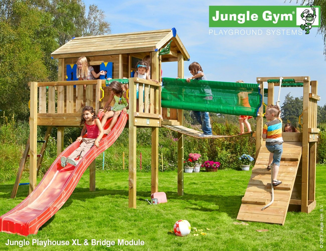 Sehr Play centres additions by Jungle Gym - Bridge Module | Tree house  AF99