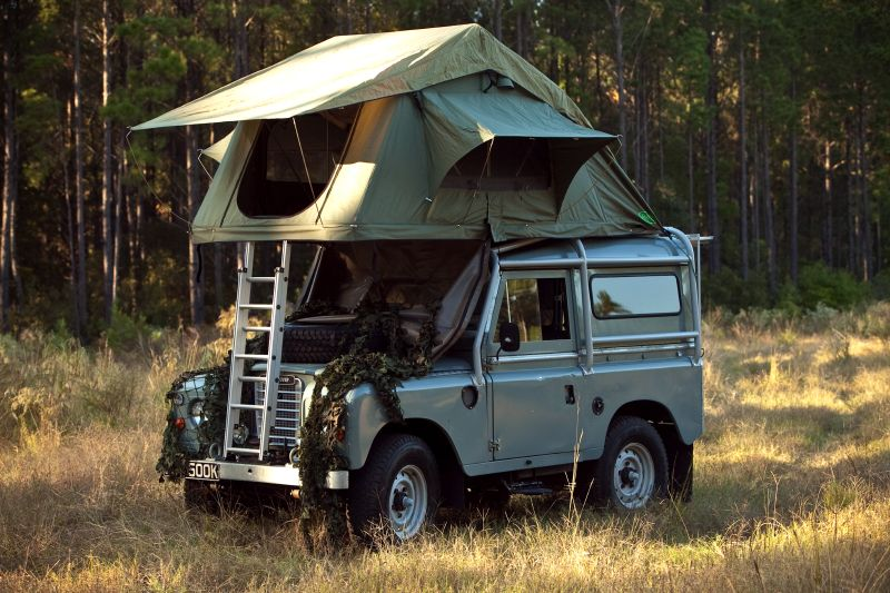 Green Land Rover C&er with roof tent ? App for Land Rover or Range Rover ?u2026 & Google Image Result for http://www.hardtuned.com/feature/htshorts ...