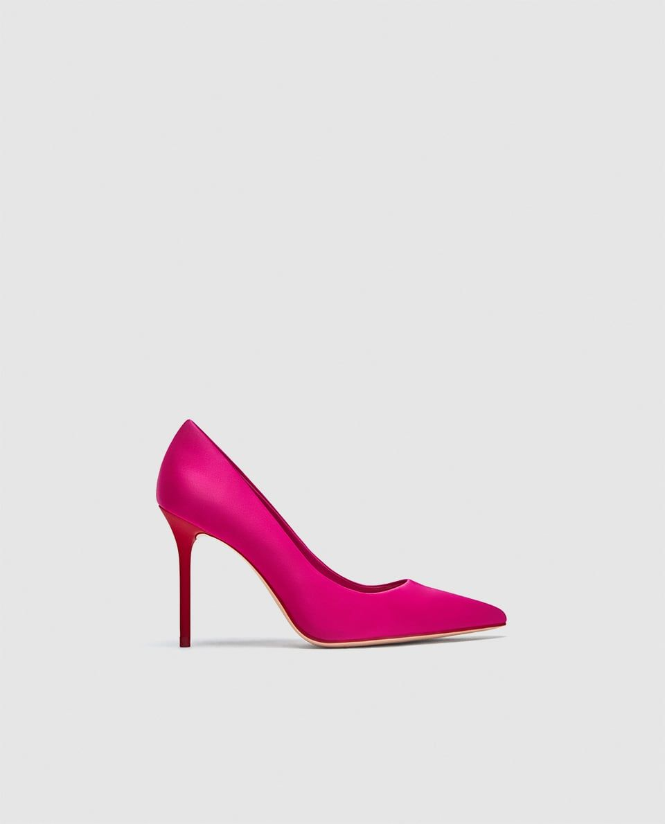 1852e3d73cd COURT SHOES WITH CONTRASTING HEELS-NEW IN-WOMAN | ZARA United ...