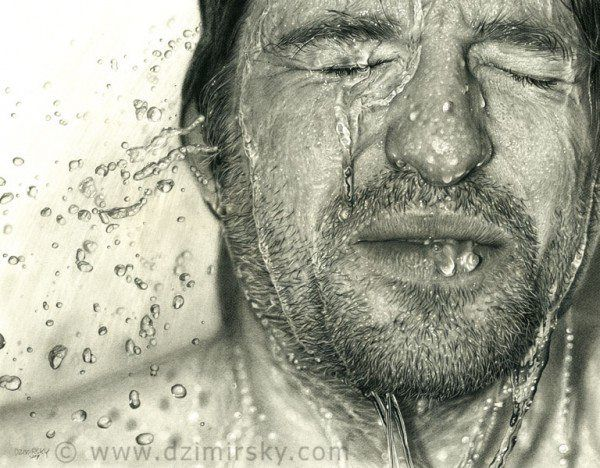 Photorealistic drawing by Dirk Dzimirsky