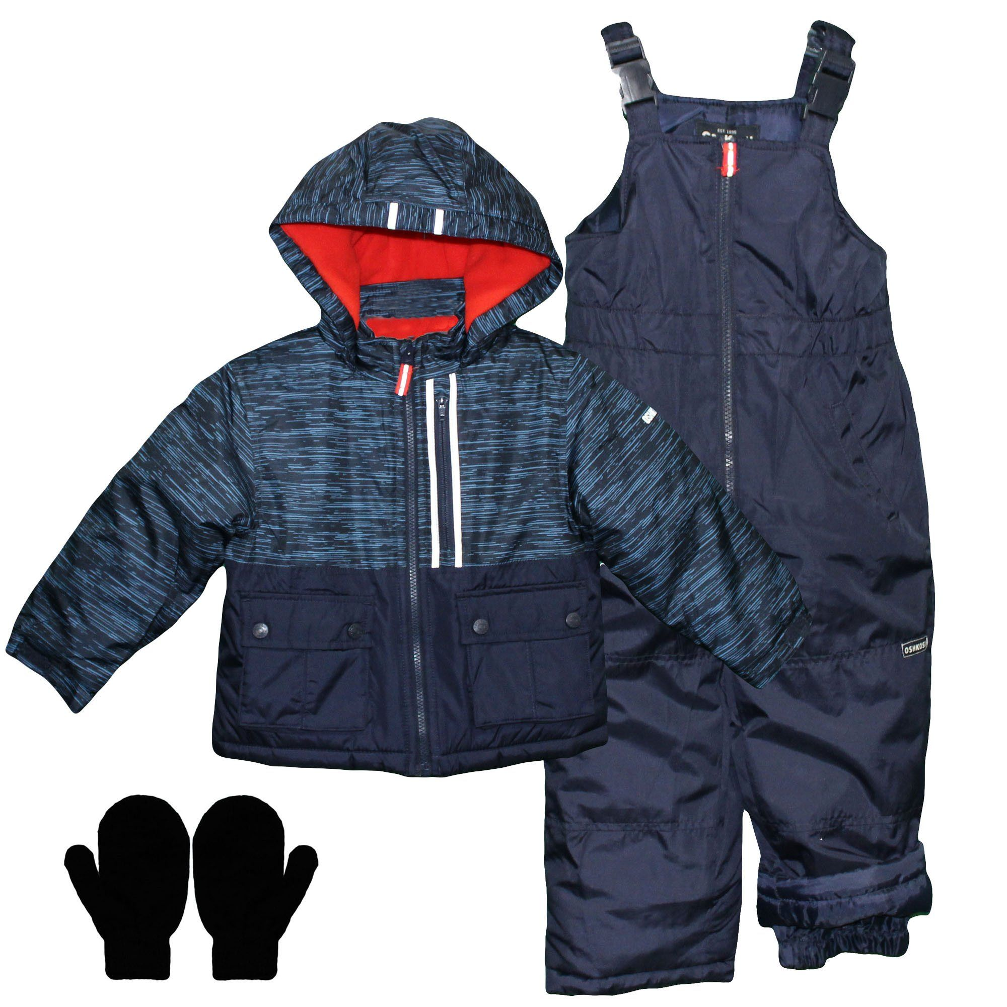 789a0b7eafad OshKosh Toddler Heavy Snow Suit Winter Jacket Snow Pants and Mittens ...