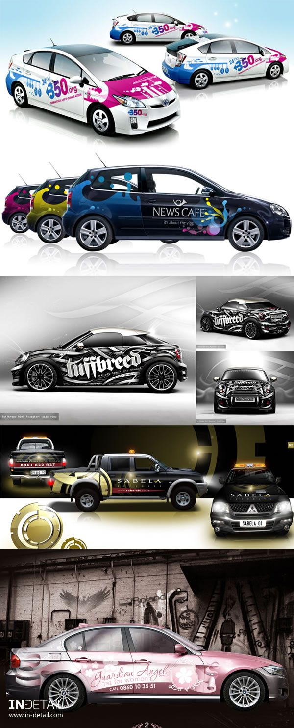 In Detail Design And Advertising In Detail Advertising Car Wrap Design Car Lettering Vehicle Signage