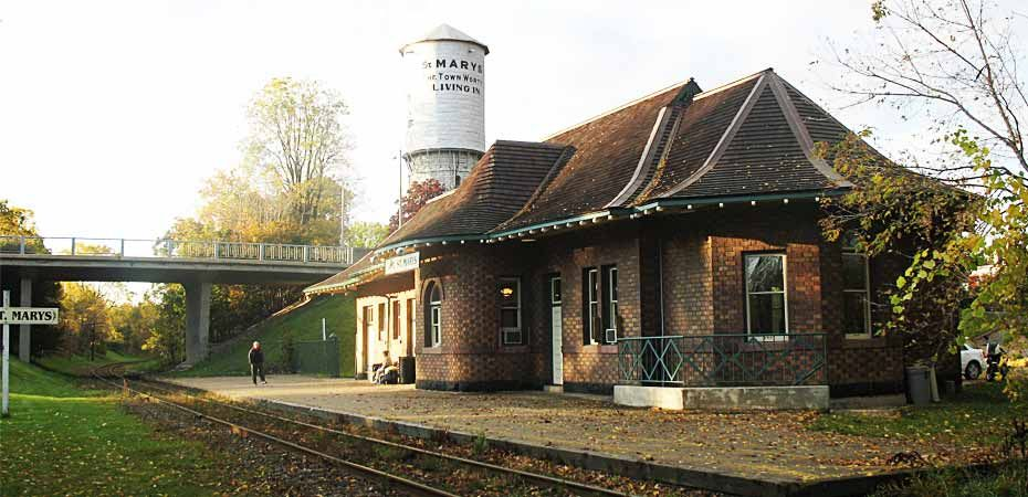 Image result for images of the old train station at St Marys ontario
