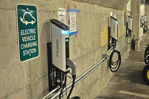 Hybrid Electric Car Charging Station