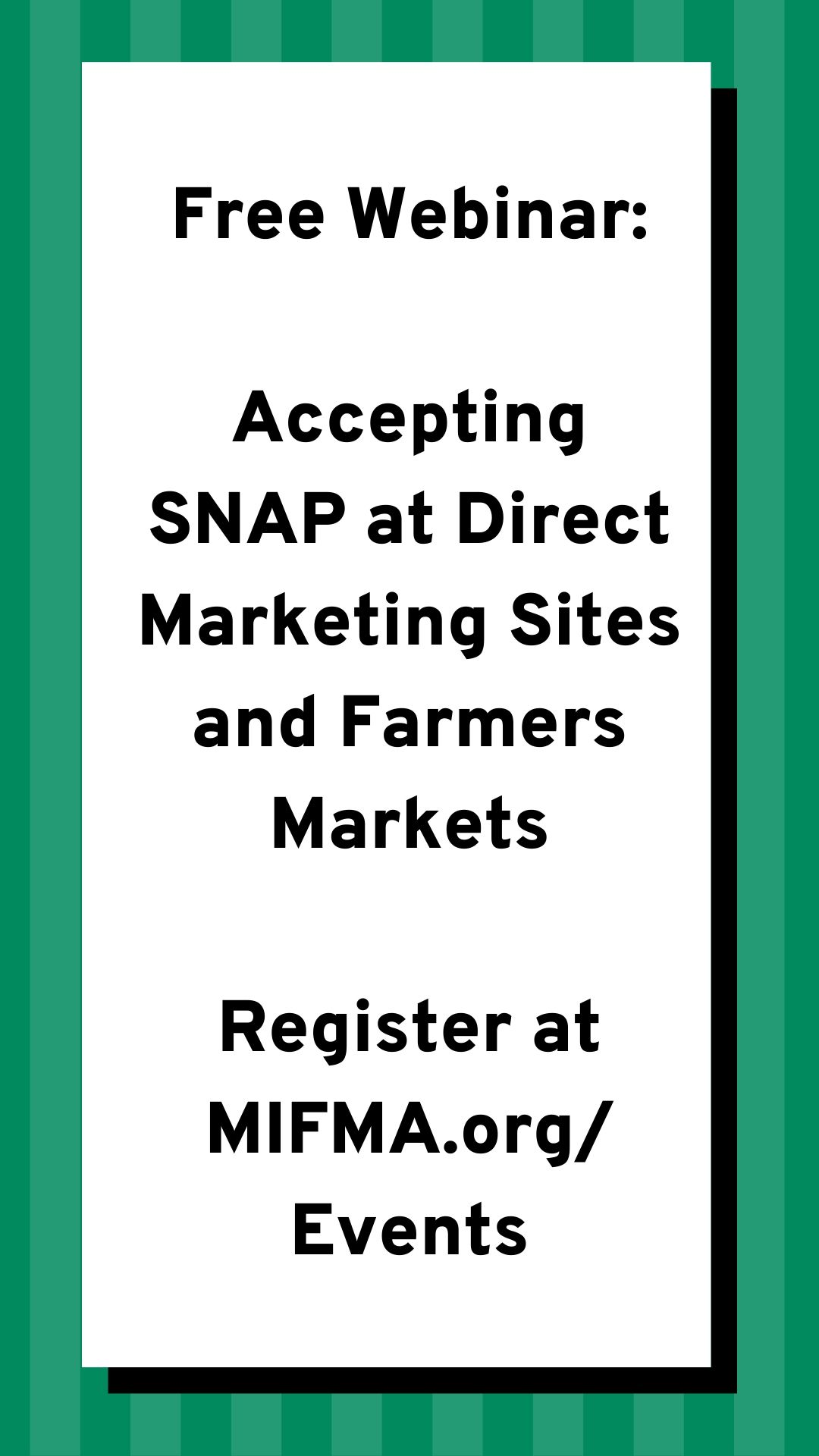 2020 Accepting SNAP at Direct Marketing Sites & Farmers