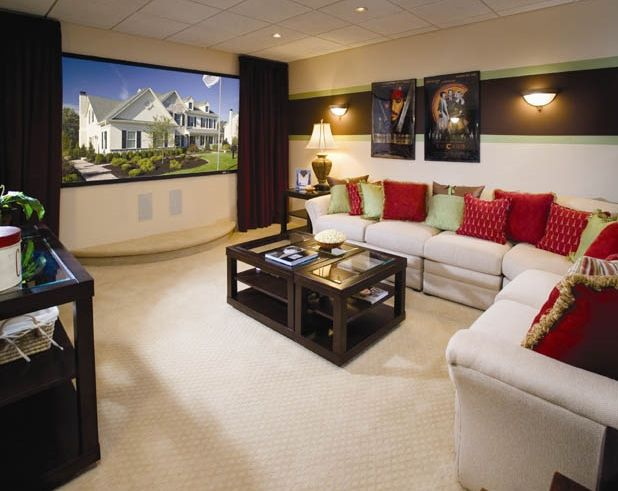 Media Room Basement Remodel 0: What A Great Media Room. Fun For The Whole Family