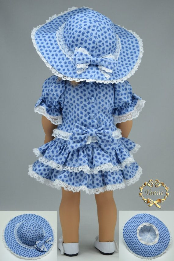Items similar to Handcrafted 18 inch doll clothes fits AG Dolls OOAK Special Occasion ( 3 pieces - Blouse, Skirt & Hat ) on Etsy