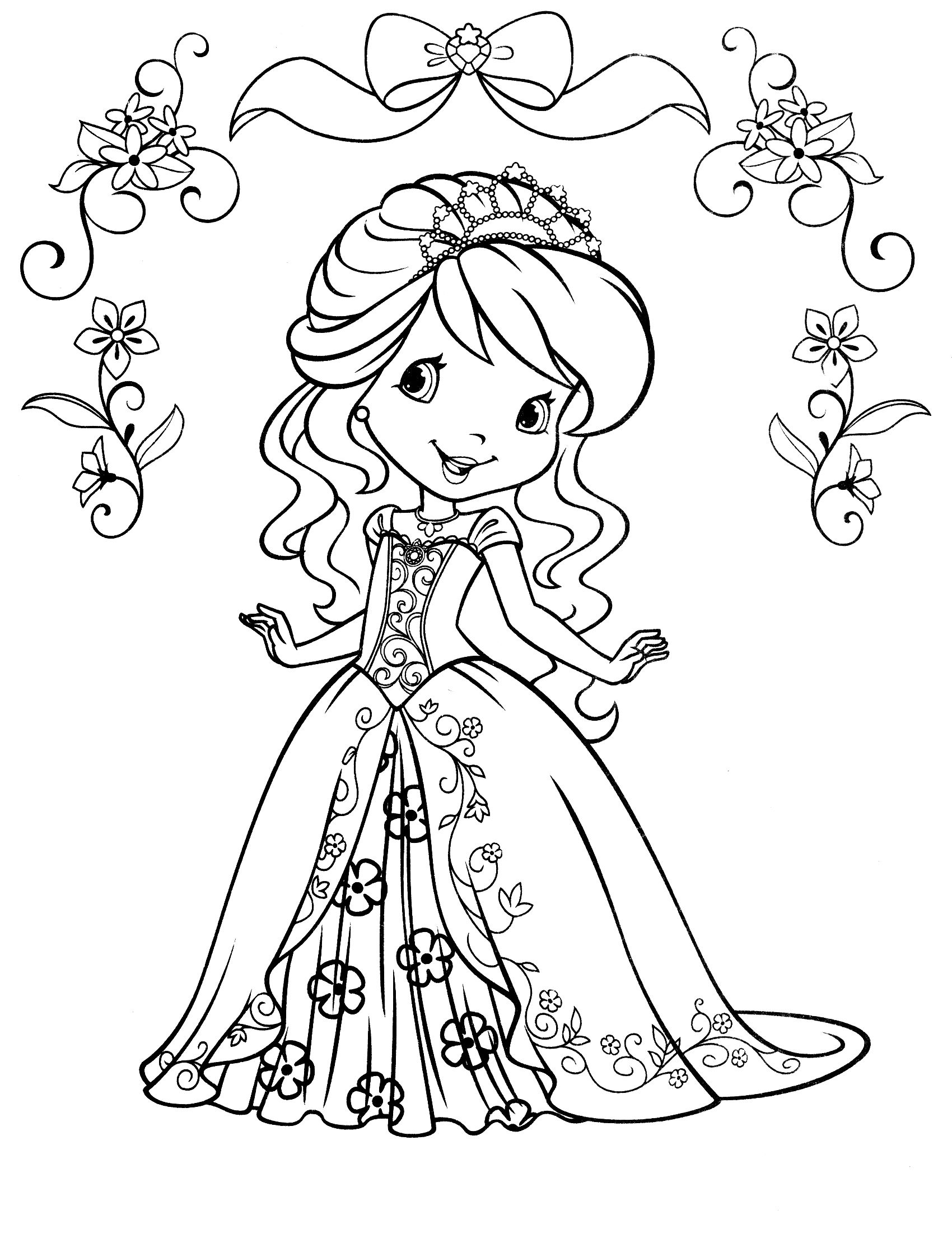 Orange Blossom Mermaid Coloring Pages Strawberry Shortcake Coloring Pages Princess Coloring Pages