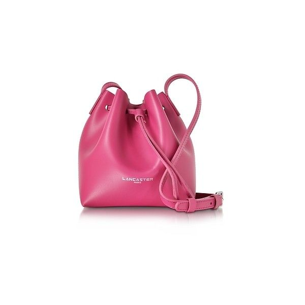 Lancaster Paris Designer Handbags Pur Smooth Fuchsia Leather Mini 150 Liked On Polyvore Featuring Bags Shoulder