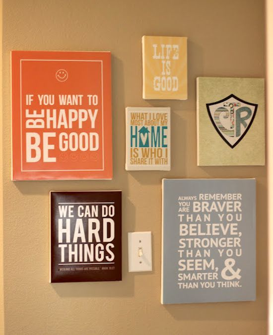 Make Diy Quote Art On Canvas Share Your Craft Diy Wall Art Wall