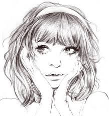 Desenho Garota Triste Tumblr Pesquisa Google Dessin Visage