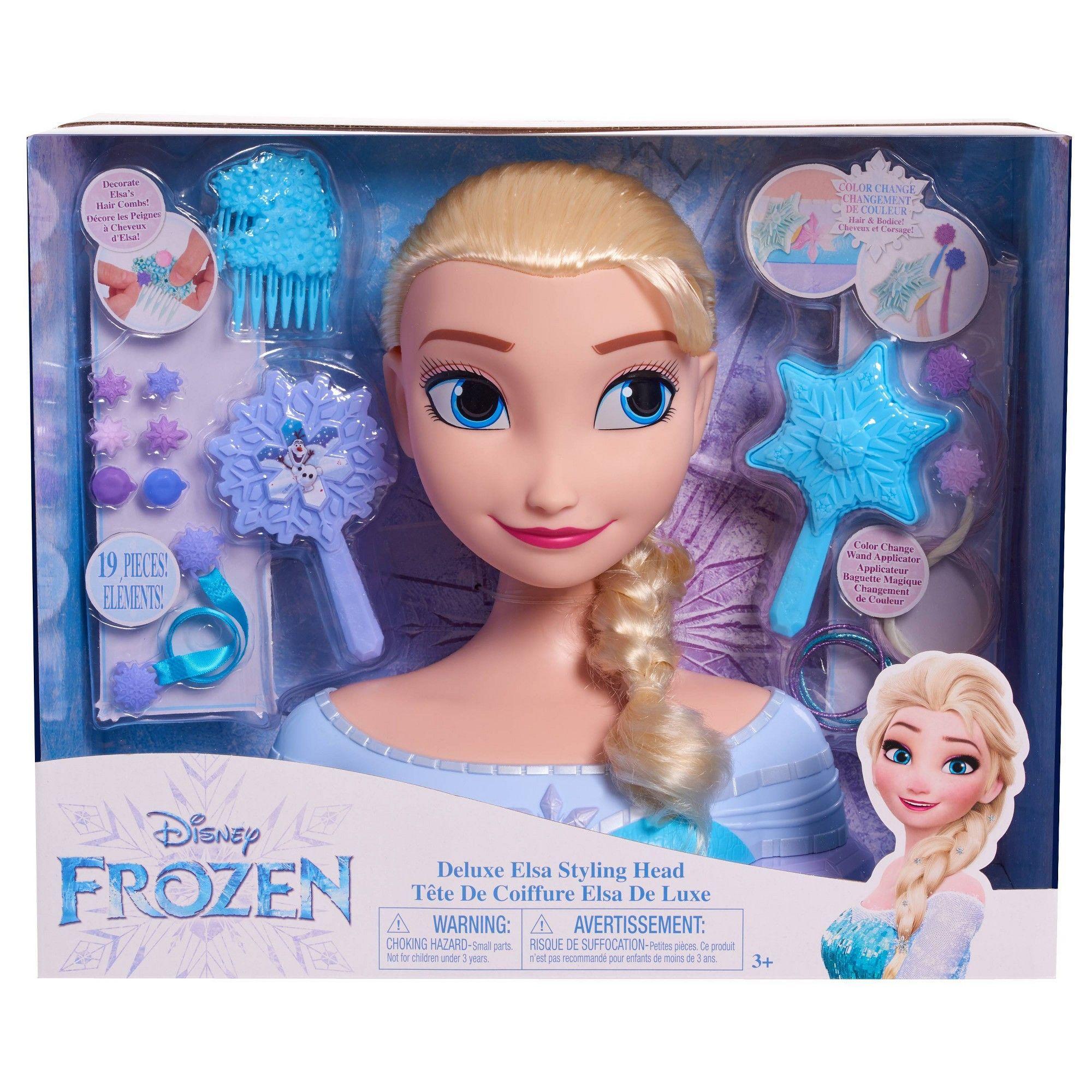 Disney Princess Elsa Deluxe Styling Head In 2020 Disney Princess Elsa Disney Frozen Birthday Party Disney Frozen Birthday
