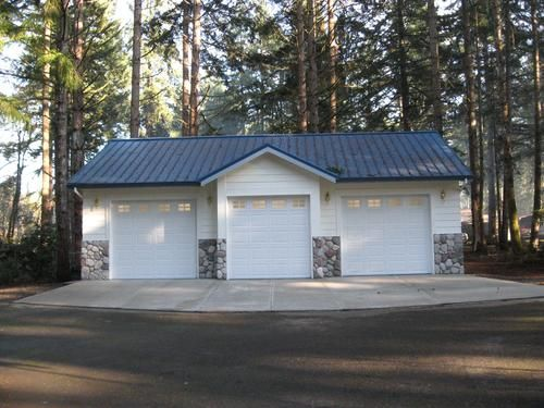 26 X 36 X 10 Garage With Extra Gable At Menards Metal Garage Buildings Garage Plans Detached Garage Design