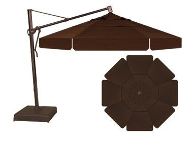Shop for Treasure Garden 13' Cantilever Umbrella with Valance - Chocolate, CLUKUM5313-BRZ-CHO, and other OutdoorPatio Umbrellas at Paddy O Furniture in Scottsdale and Phoenix, AZ. 13' Cantilever Umbrella with Valance.