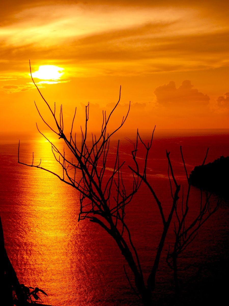 Pemandangan Sunset di Pantai HT 05 Pinterest Sunset