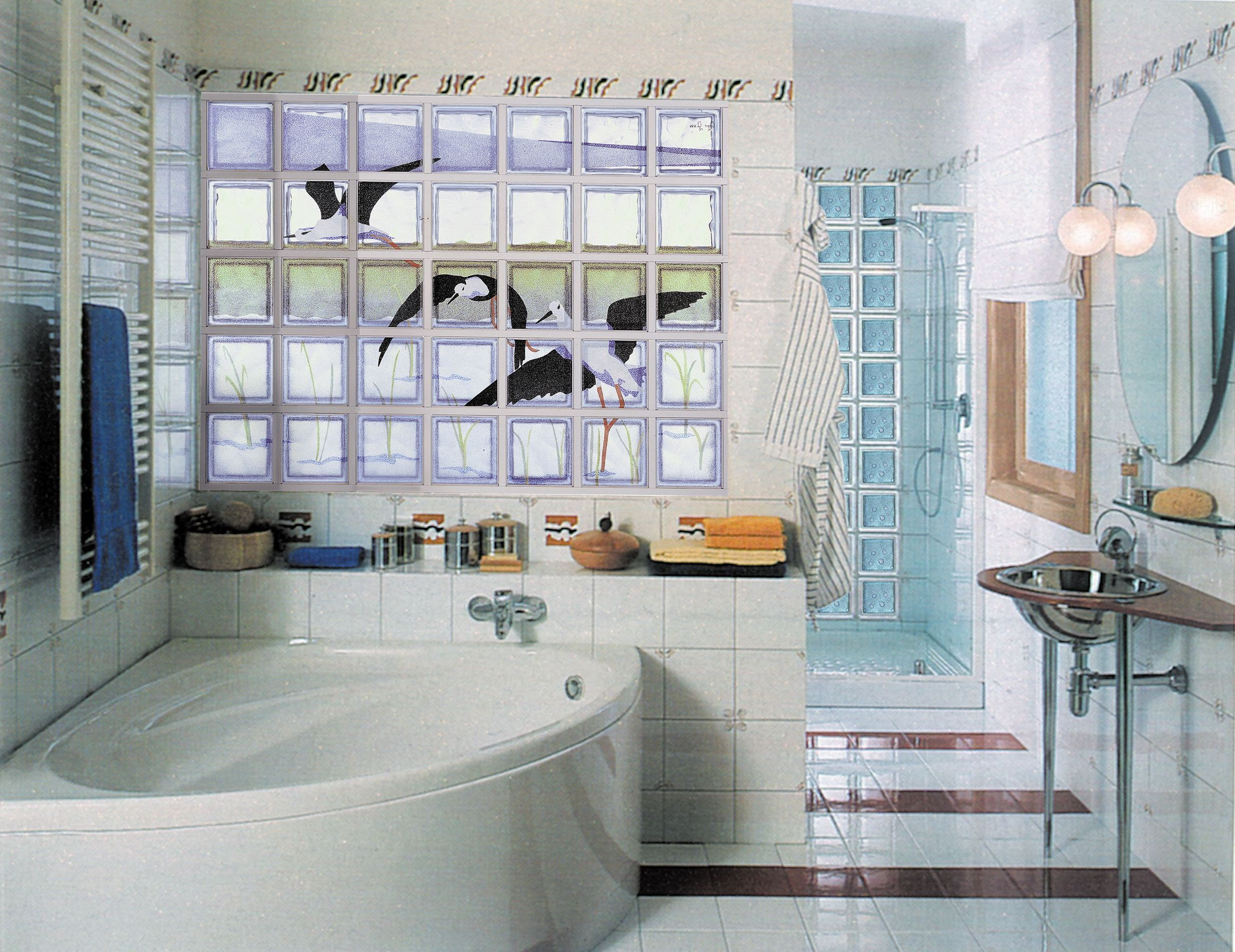 Beau Simple Yet Nice Glass Block Bathroom Windows