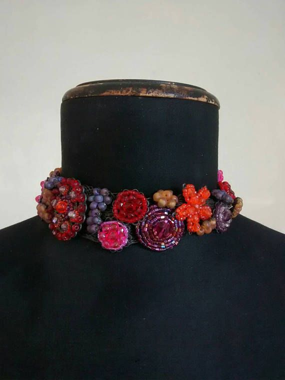 Check out this item in my Etsy shop https://www.etsy.com/listing/512357470/beautiful-beaded-choker-handmade-in