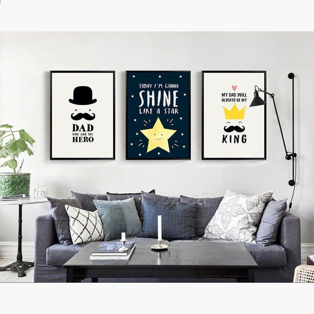 Nuomege Nordisk Minimalisme Abstrakt Tegneserie Plakat Og Billede Laerred Maleri Moderne Vaeg Kunst Baby Billede Bedroom Design Inspiration For Kids Design
