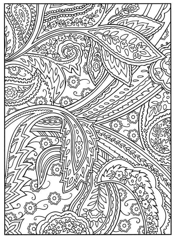 paisley coloring pages for adults welcome to dover publications paisley pinterest. Black Bedroom Furniture Sets. Home Design Ideas
