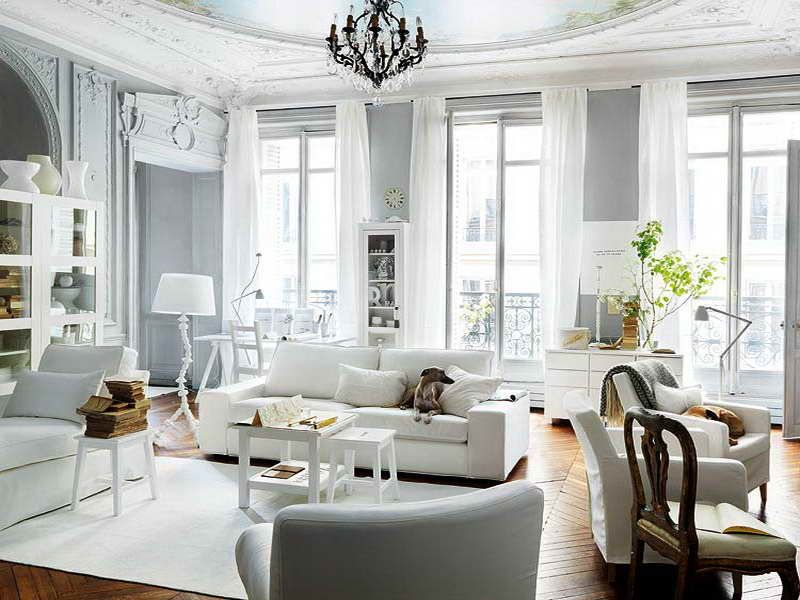 My Ultimate French Contemporary Home Parquet Floors Floor To Ceiling Windows Gray Walls Detailed Ceiling And Clea Wohnzimmer Grau Wohnung Chic Wohnzimmer