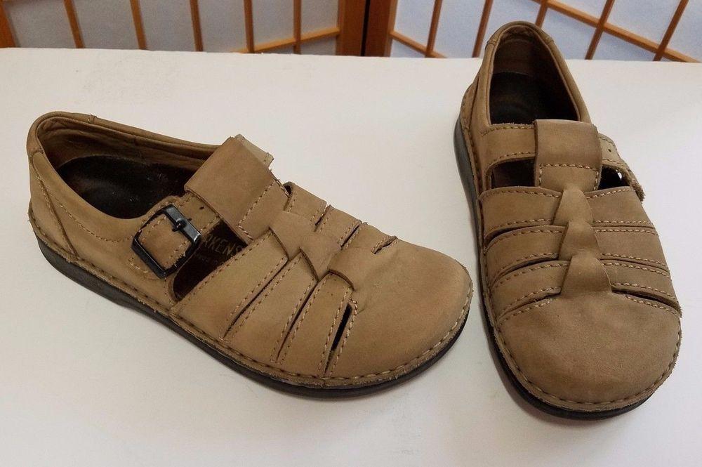9569c3da6f43 Footprints Birkenstock Honey Tan Madeira Fisherman Shoes Womens EUR 40 9-9.5  US  Birkenstock  Fisherman  Casual