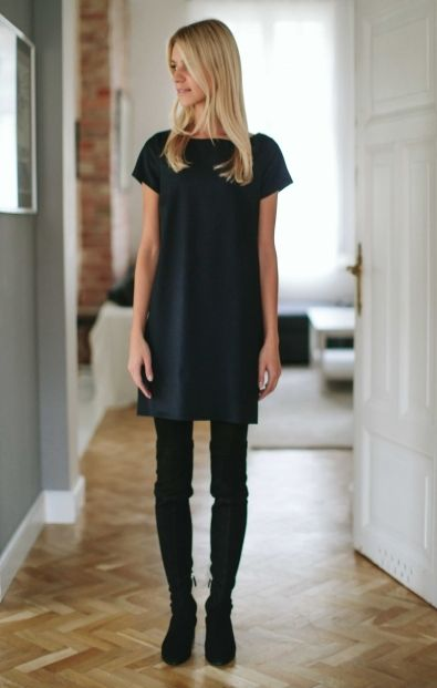 Granatowa Pudelkowa Sukienka Wszystkie Mle Collection Casual Chic Outfit Minimal Fashion Casual Chic