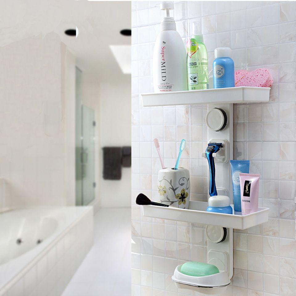 Wall Mounted Plastic Bath Shelf Bath Caddy Bathroom Storage Shelves Storage Shelves Bathroom Shelves