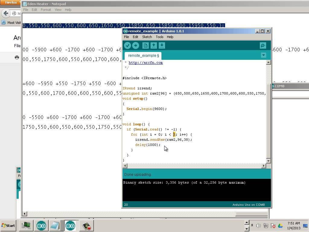 1304 Arduino Chapter13 Sending Raw IR codes to comsumer