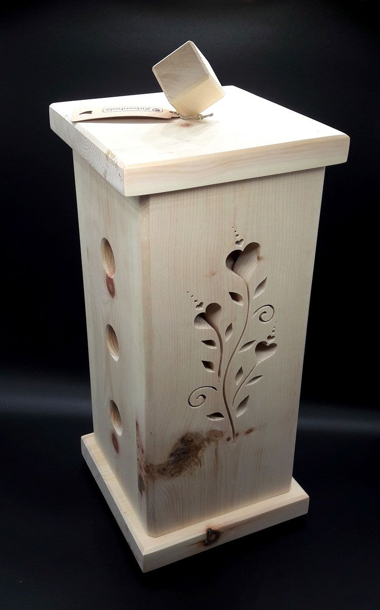 dufts ule zirbenholz mit blumenranke extra starkes zirbenholz holz geschenke aus holz. Black Bedroom Furniture Sets. Home Design Ideas