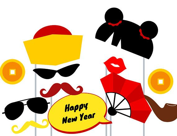7c89025170 Print Yourself Chinese New Years Photo Booth Party Props